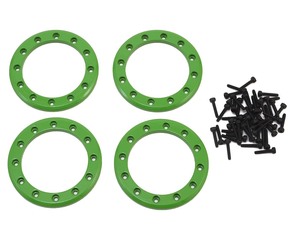 "Aluminum 1.9"" Beadlock Rings (Green) (4) by Traxxas"