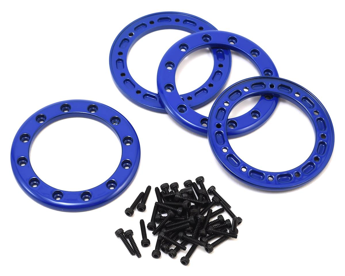 "Aluminum 1.9"" Beadlock Rings (Blue) (4) by Traxxas"