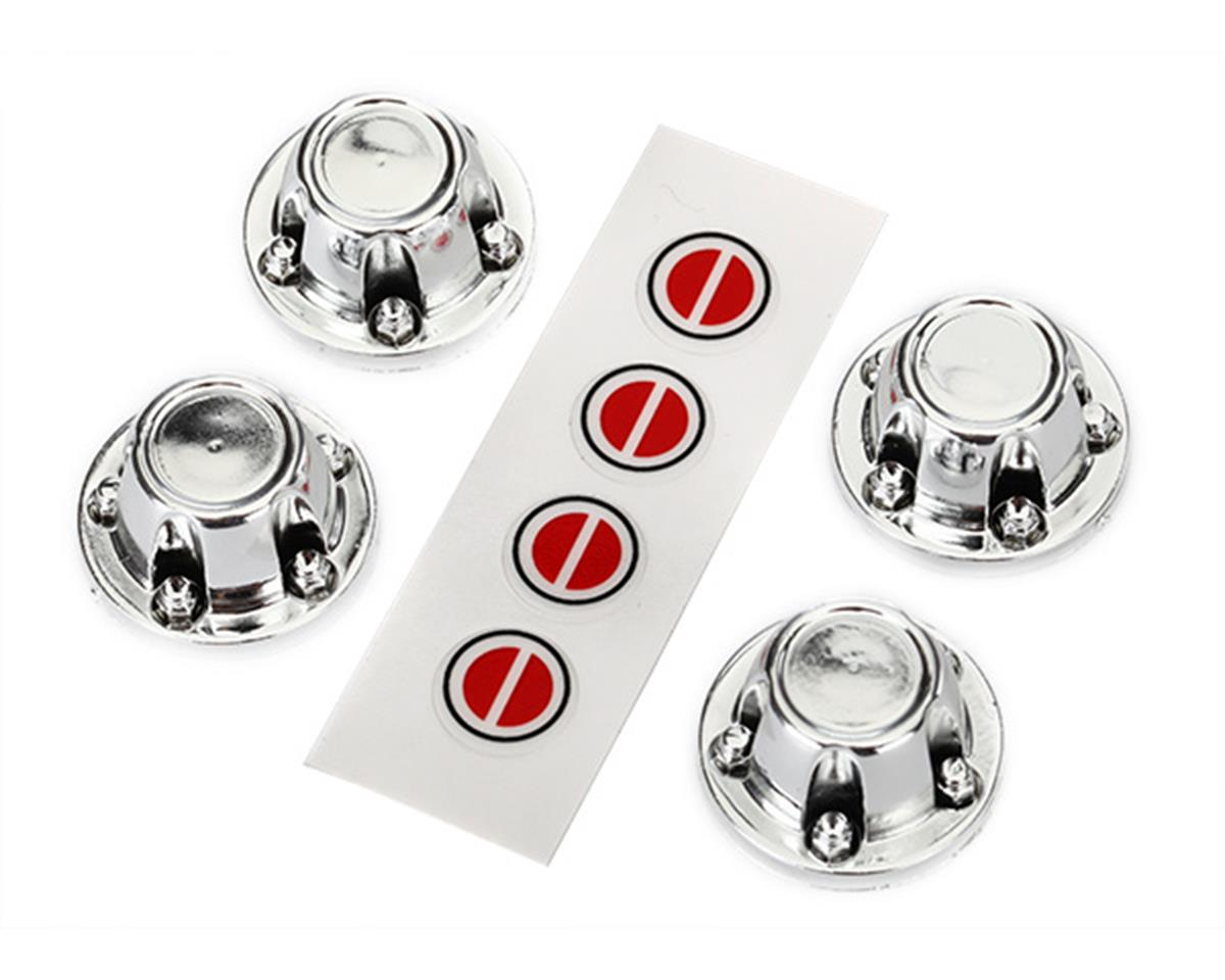 Traxxas TRX-4 Center Wheel Caps (Chrome) (4)