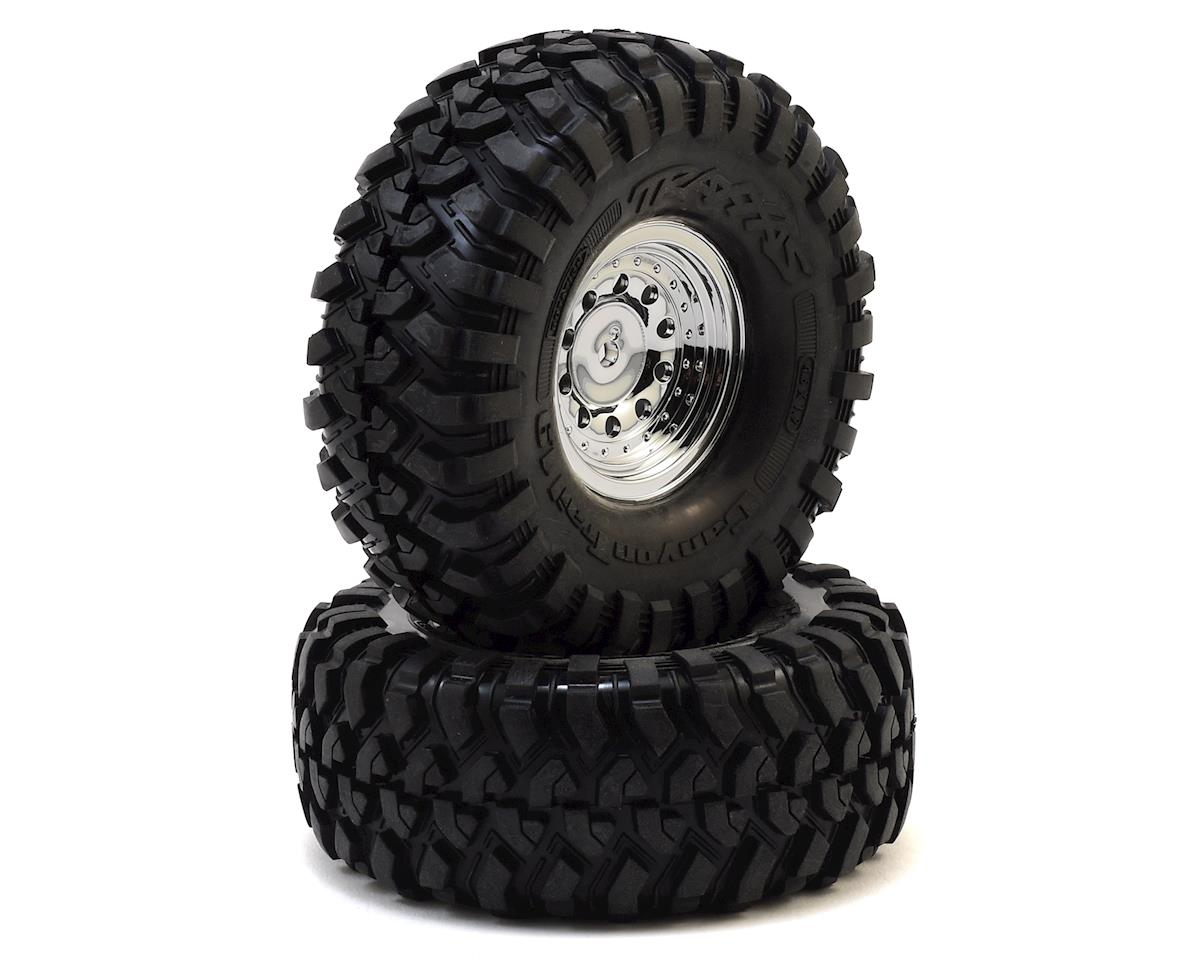 "TRX-4 Pre-Mounted Canyon Trail 1.9"" Crawler Tires w/Chrome Wheels by Traxxas"