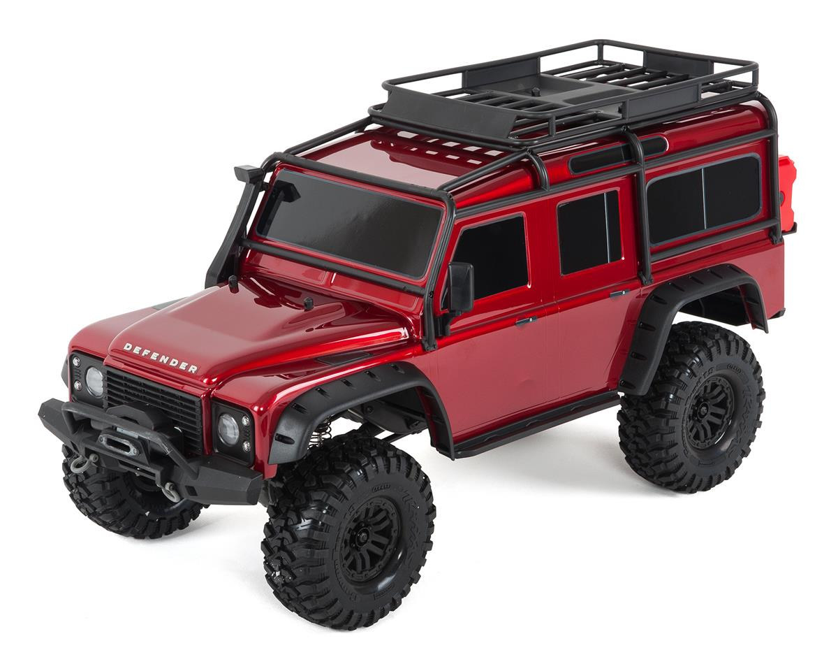 TRX-4 1/10 Scale Trail Rock Crawler w/Land Rover Defender Body (Red) by Traxxas
