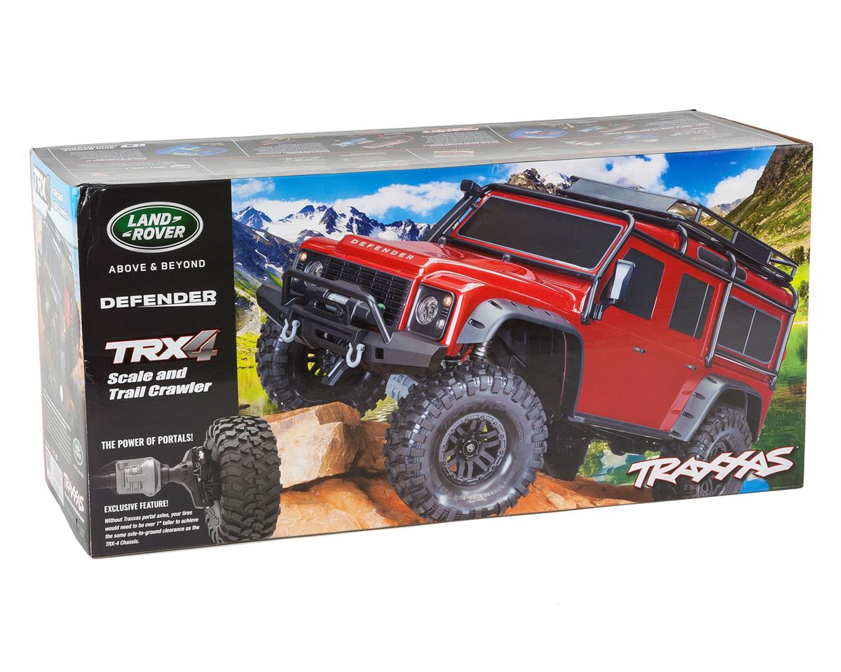 Traxxas Trx 4 1 10 Scale Trail Rock Crawler W Land Rover Defender Stampede Vxl Parts Diagram Slash 4x4 Exploded View Tra82056 Red 6
