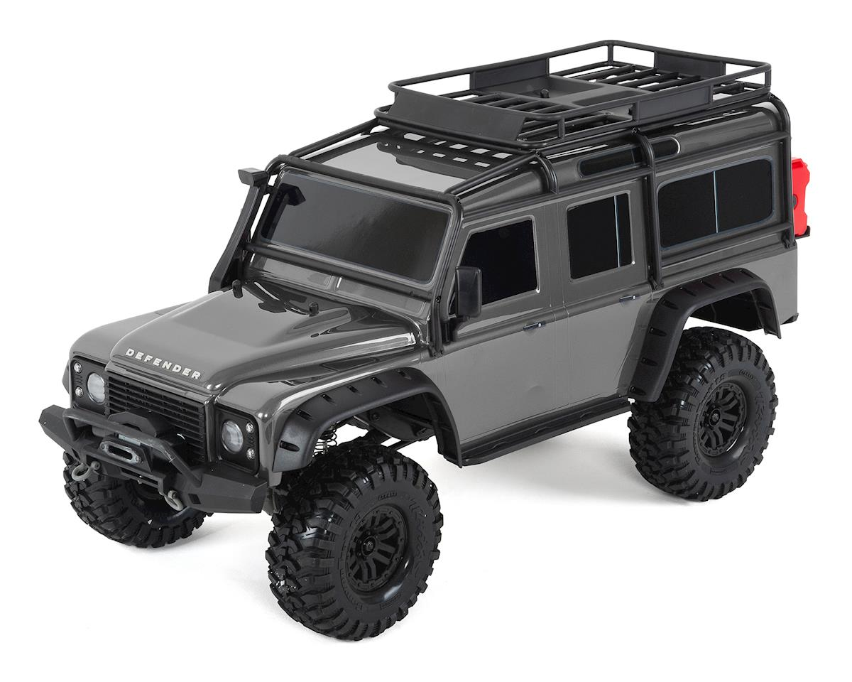 TRX-4 1/10 Scale Trail Rock Crawler w/Land Rover Defender Body (Silver)