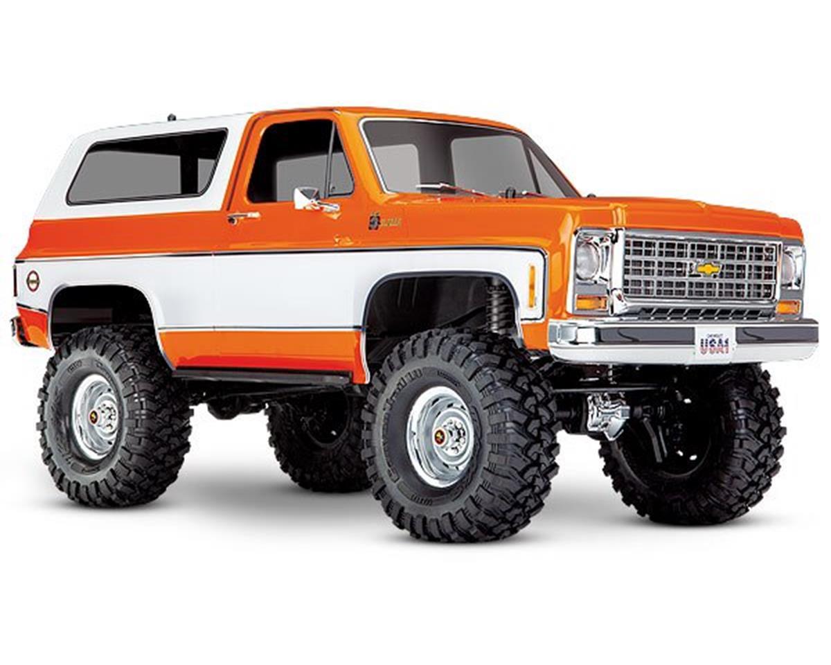 Traxxas TRX-4 1/10 Trail Crawler Truck w/'79 Chevrolet K5 Blazer Body  (Orange) w/TQi 2 4GHz Radio