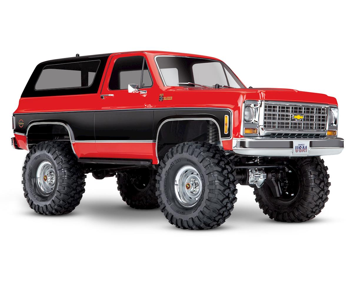 Traxxas TRX-4 1/10 Trail Crawler Truck w/'79 Chevrolet K5 Blazer Body (Red)