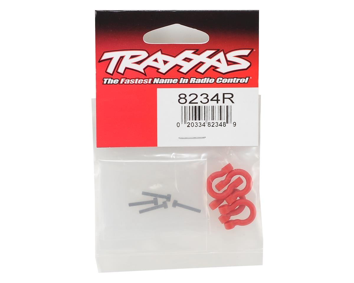 TRX-4 Bumper D-Rings (Red) (4) by Traxxas