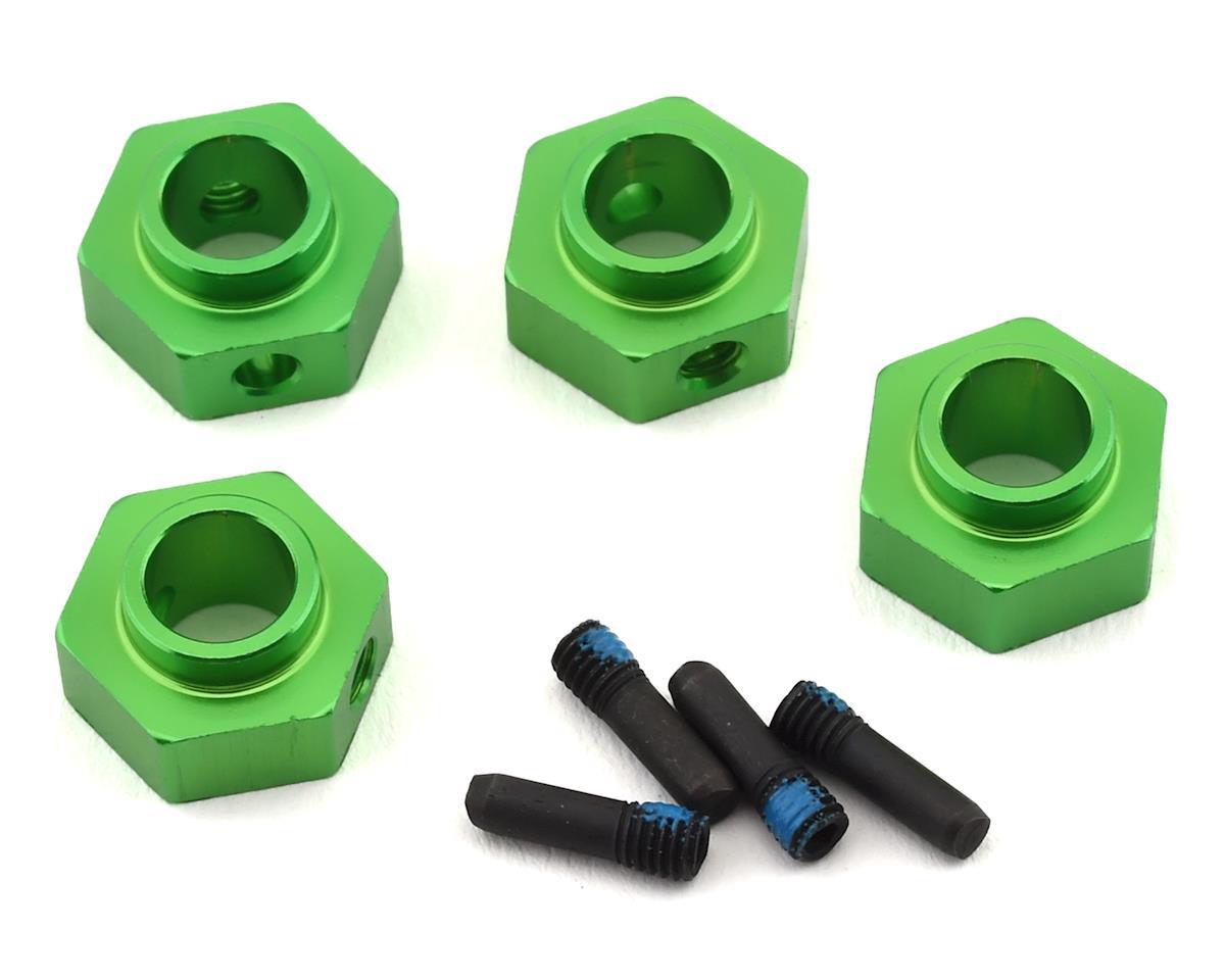 Traxxas TRX-4 12mm Hex Aluminum Wheel Hubs (Green) (4)
