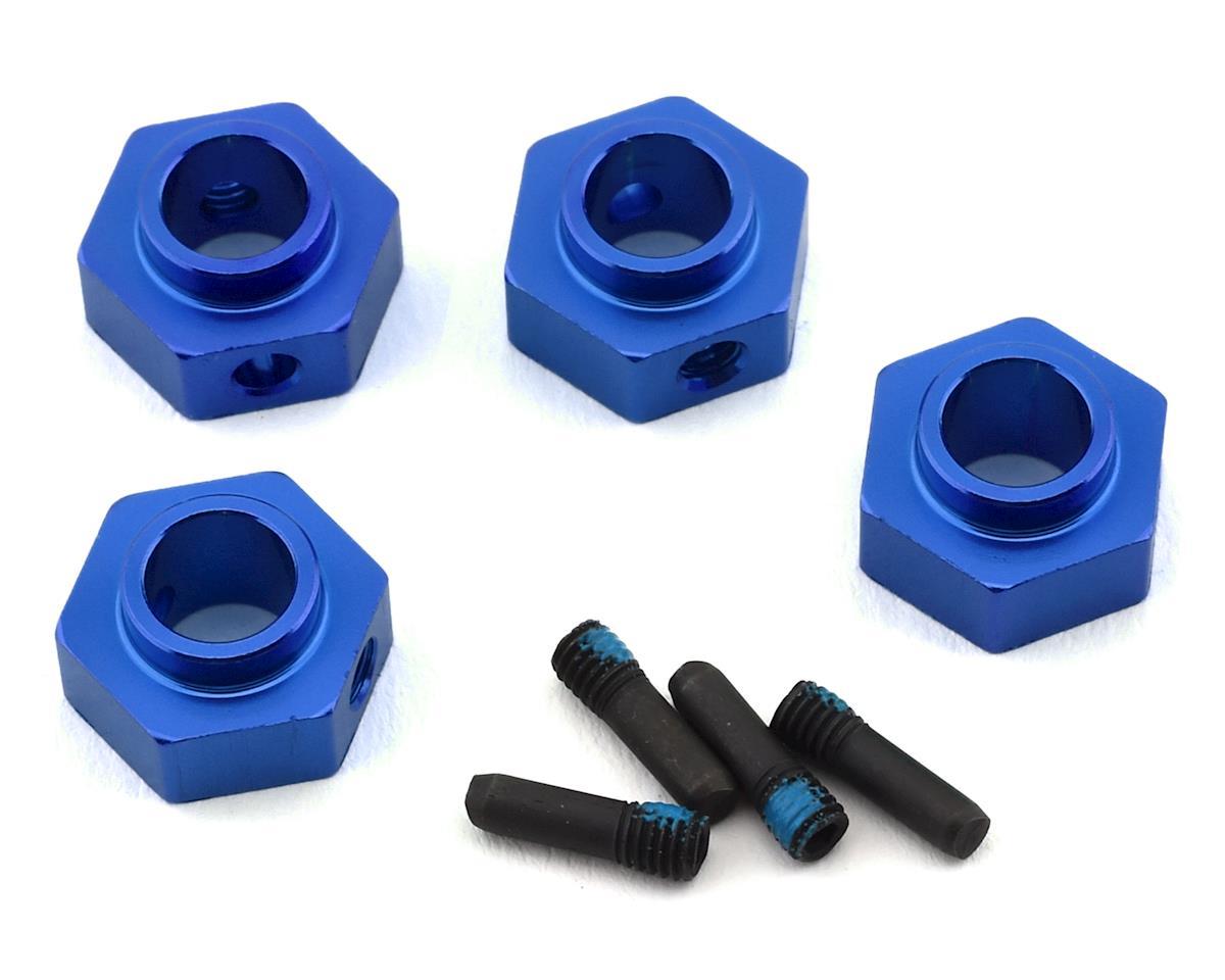 Traxxas TRX-4 12mm Hex Aluminum Wheel Hubs (Blue) (4)