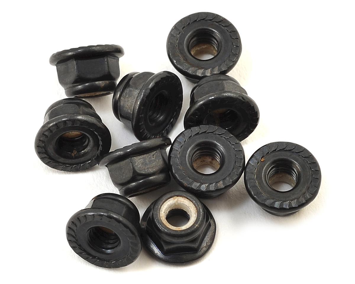 Traxxas 4-Tec 2.0 Serrated Flanged Nylon Locking Nut (Black) (10)