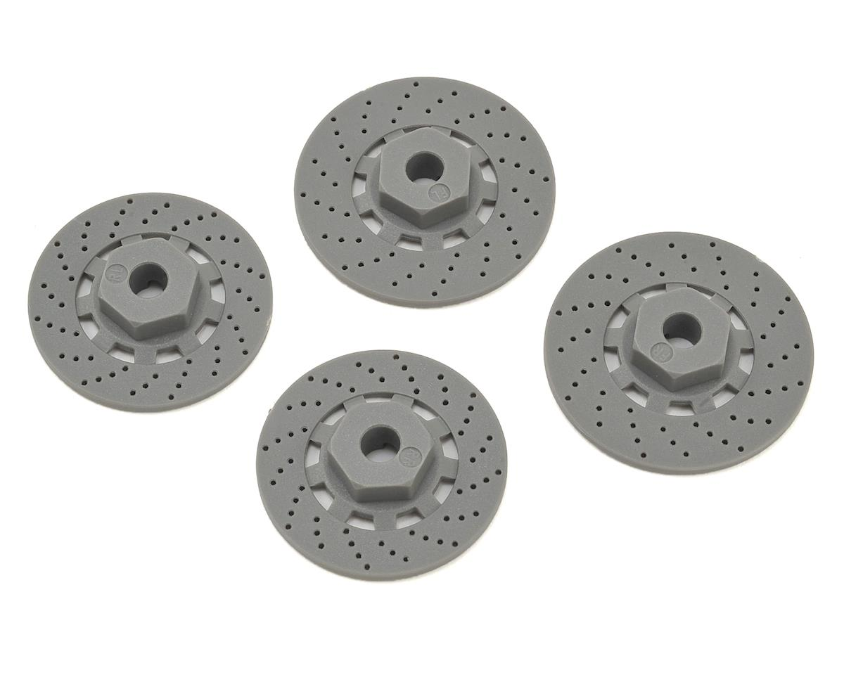 Traxxas 12mm Hex 4-Tec 2.0 Wheel Hubs w/Disk Brake Rotors (4)