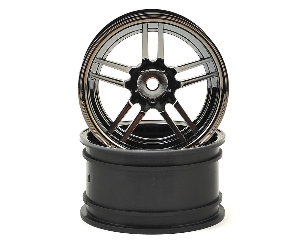 "4-Tec 2.0 1.9"" X-Tra Wide Rear Split Spoke Wheels (Black Chrome) (2) by Traxxas"