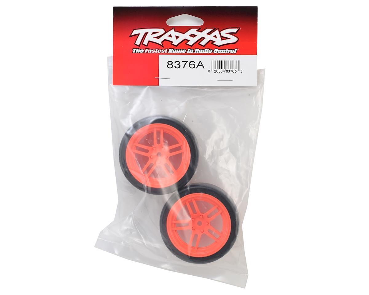 """Traxxas 4-Tec 2.0 1.9"""" Front Pre-Mounted Drift Tires (Orange)"""