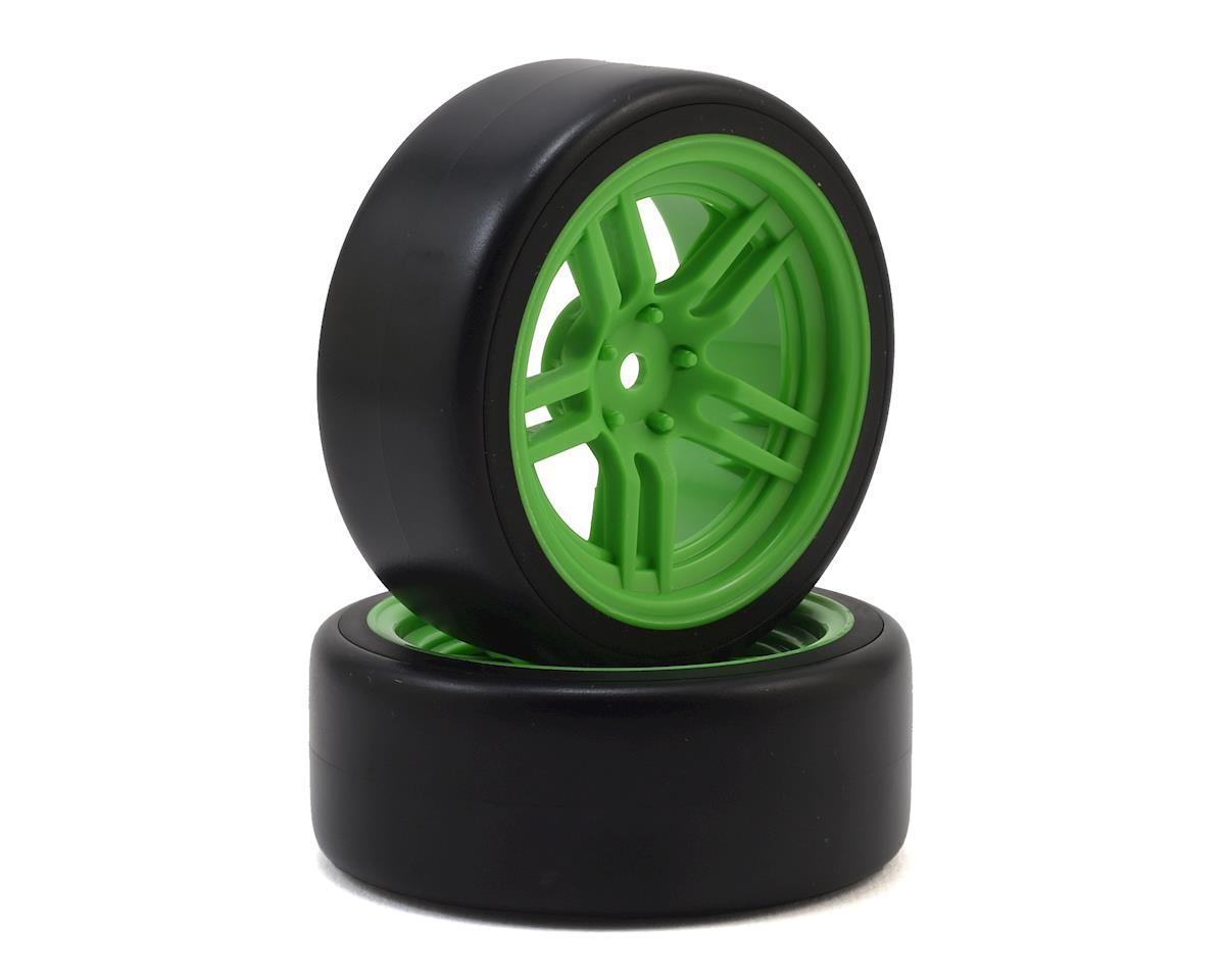 "Traxxas 4-Tec 2.0 1.9"" Front Pre-Mounted Drift Tires (Green)"