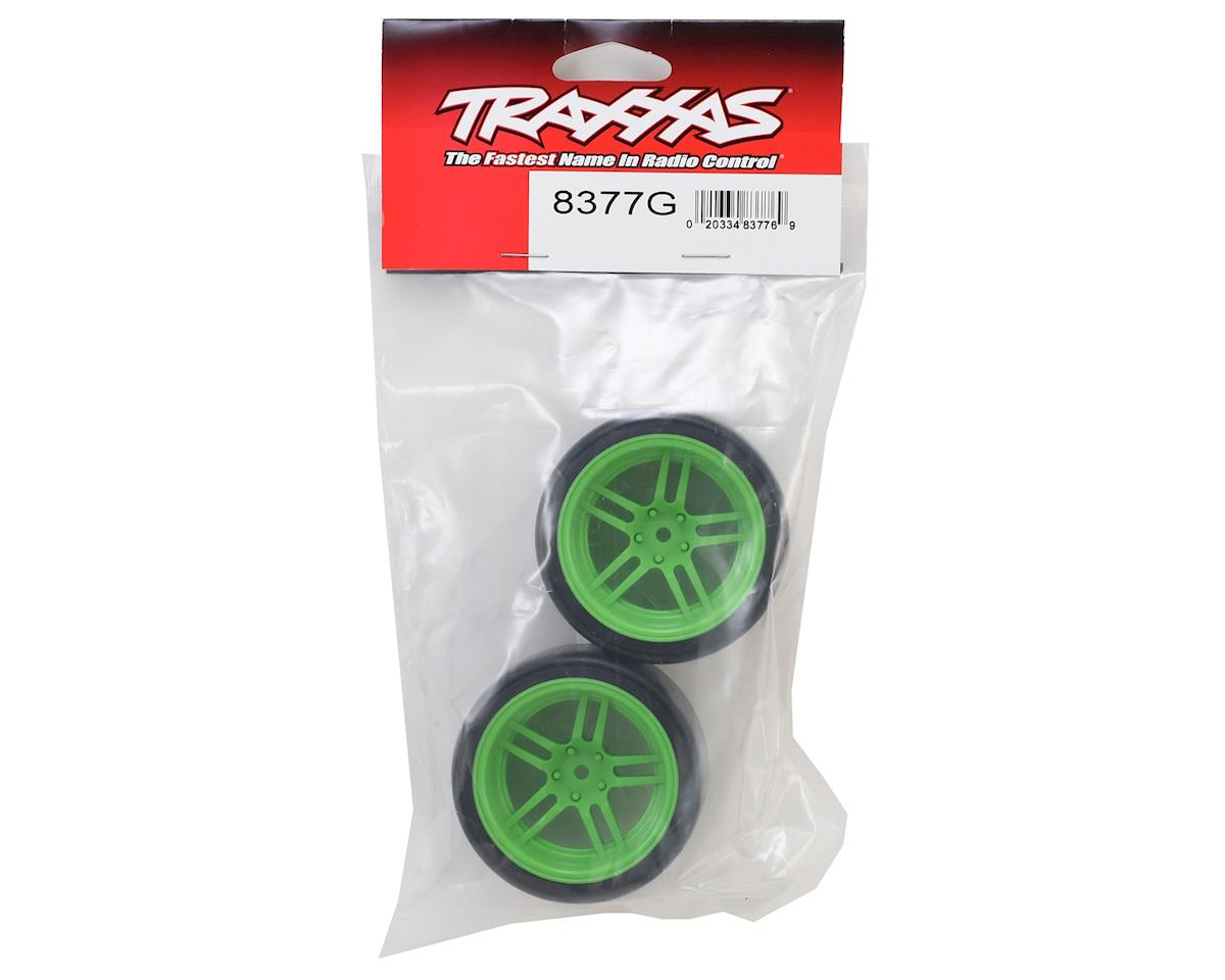 "Traxxas 4-Tec 2.0 1.9"" Rear Pre-Mounted Drift Tires (Green)"