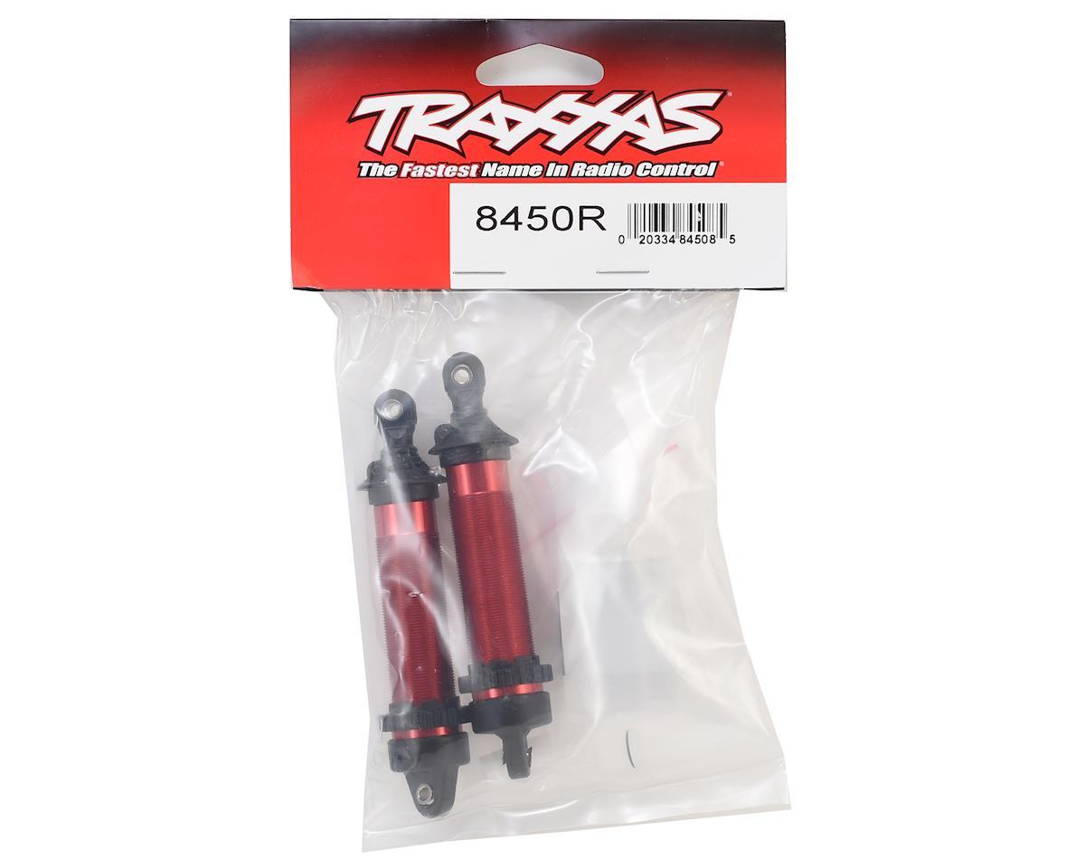 Traxxas 134mm Unlimited Desert Racer Front Aluminum Threaded GTR Shocks (Red)
