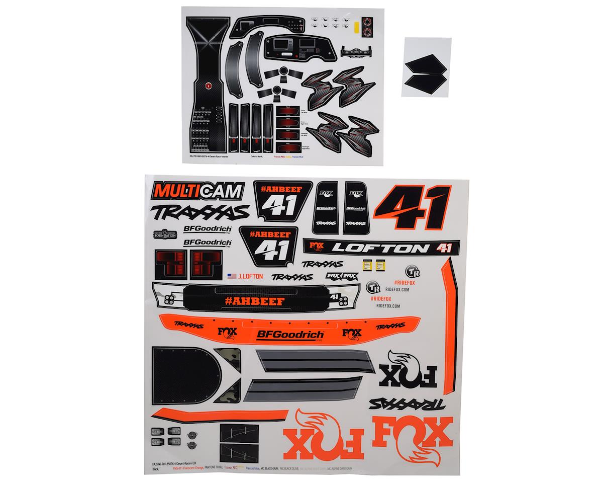 Traxxas Unlimited Desert Racer Fox Edition Decals