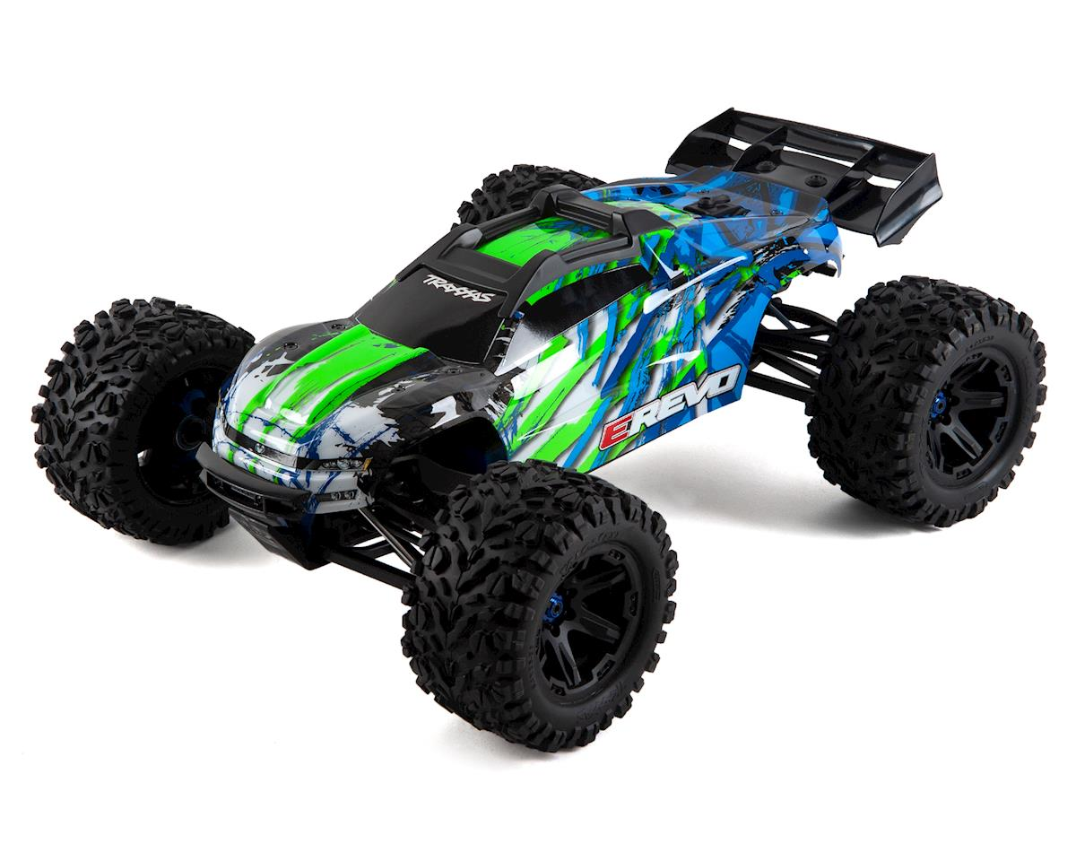 Traxxas E-Revo VXL 2 0 RTR 4WD Electric Monster Truck (Green) w/VXL-6s ESC  & TQi 2 4GHz Radio