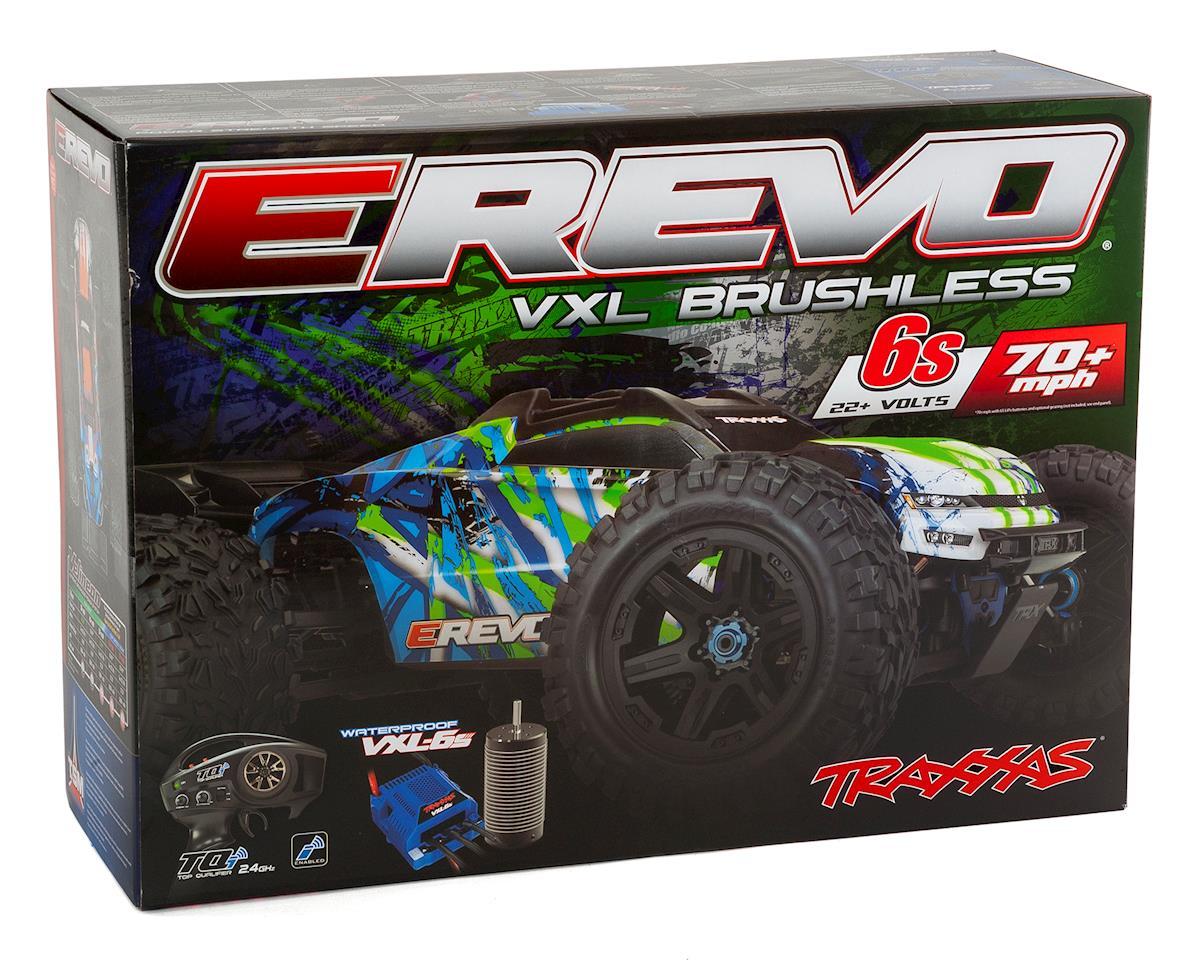 Traxxas E-Revo VXL 2 0 RTR 4WD Electric Monster Truck (Green) w/VXL-6s ESC  & TQi 2 4GHz Radio