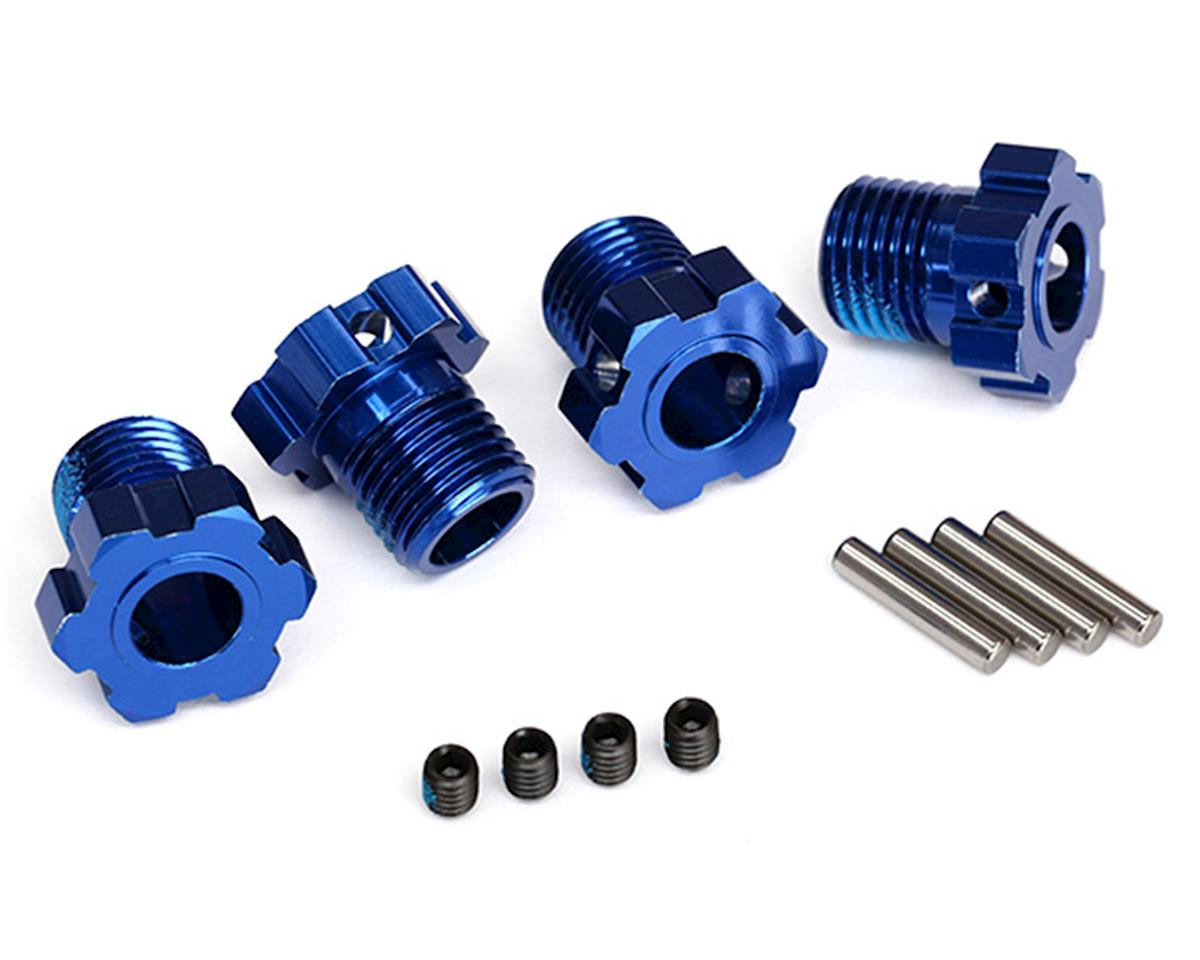 Traxxas 17mm Splined Wheel Hub Hex (Blue) (4)