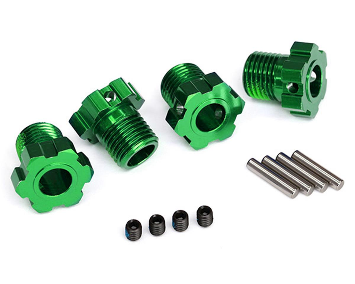 17mm Splined Wheel Hub Hex (Green) (4) by Traxxas