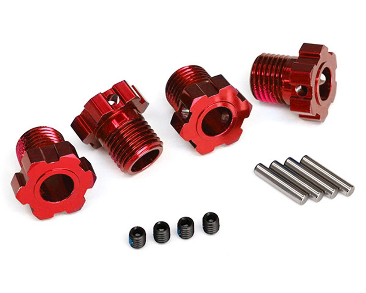 17mm Splined Wheel Hub Hex (Red) (4) by Traxxas