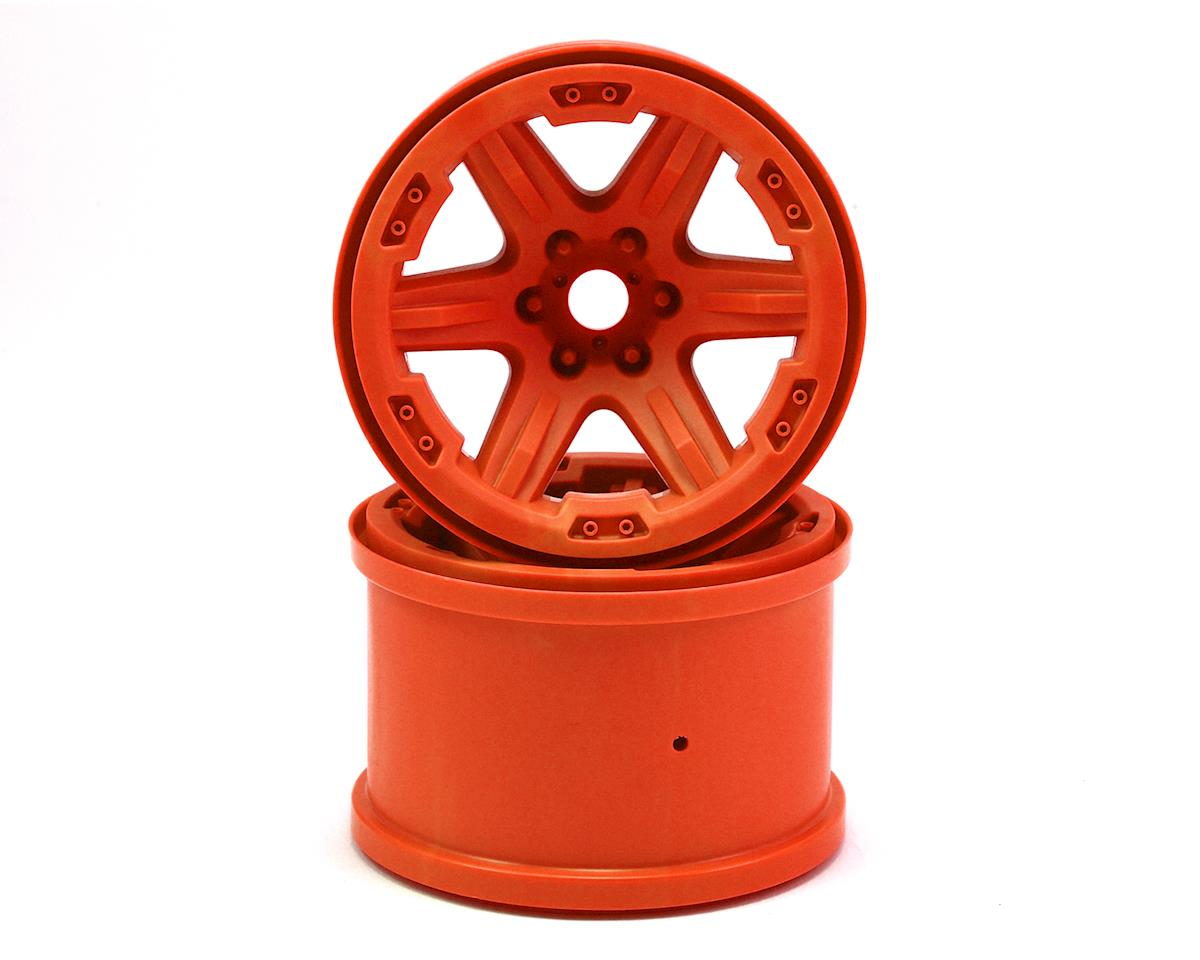 "Traxxas 17mm Splined Hex 3.8"" Monster Truck Wheels (Orange) (2)"