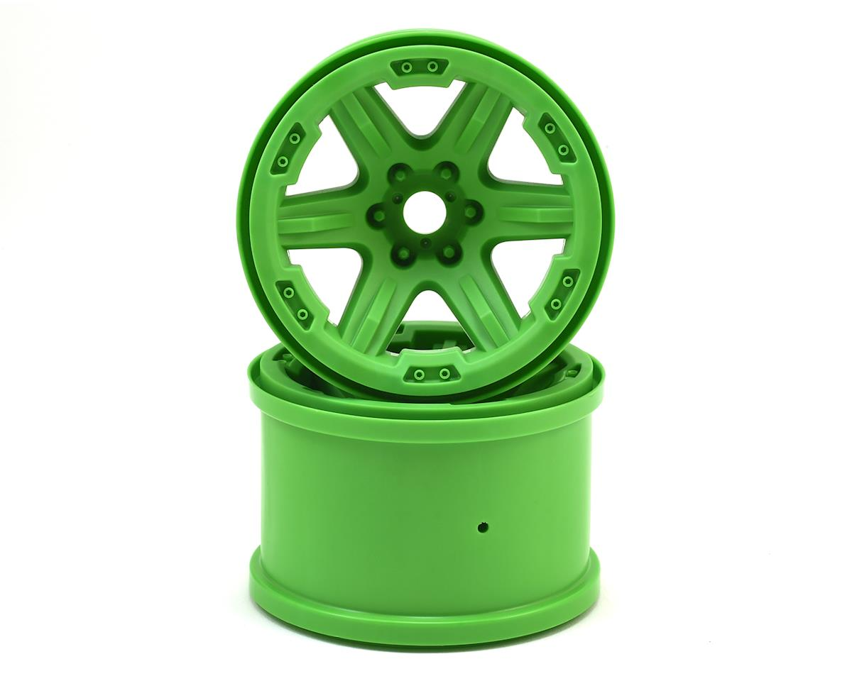 "17mm Splined Hex 3.8"" Monster Truck Wheels (Green) (2) by Traxxas"
