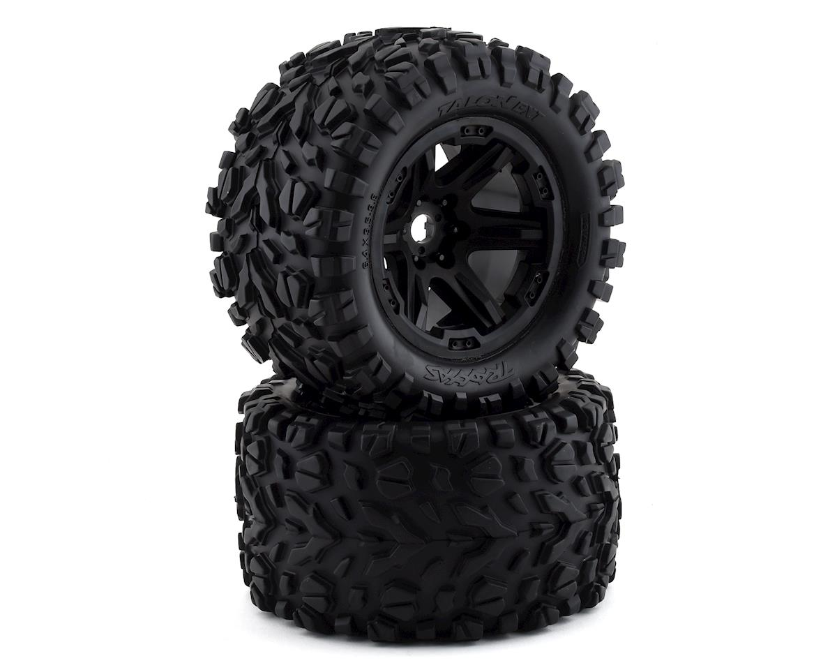 "Traxxas E-Revo VXL 2.0 Talon EXT 3.8"" Pre-Mounted Tires w/17mm Hex (2) (Black)"