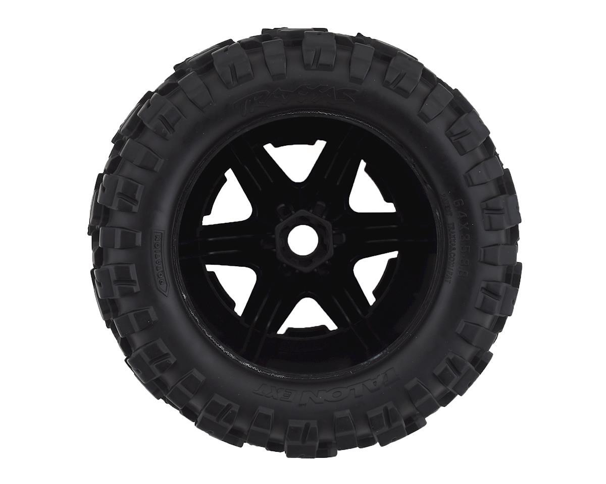 "Image 2 for Traxxas Talon EXT 3.8"" Pre-Mounted E-Revo 2.0 Tires w/17mm Hex (2) (Black)"