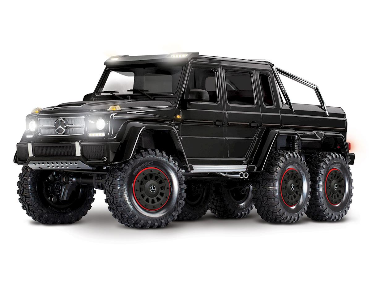 Traxxas TRX-6 1/10 6x6 Trail Crawler Truck w/Mercedes-Benz G 63 AMG Body (Black) | relatedproducts