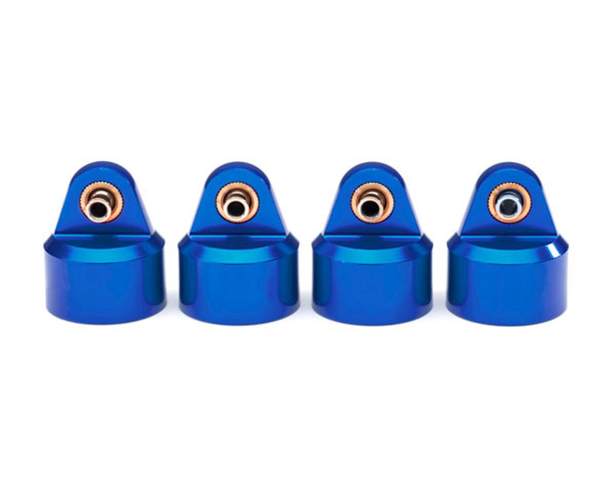 Traxxas Maxx GT-Maxx Aluminum Shock Caps (Blue) (4)