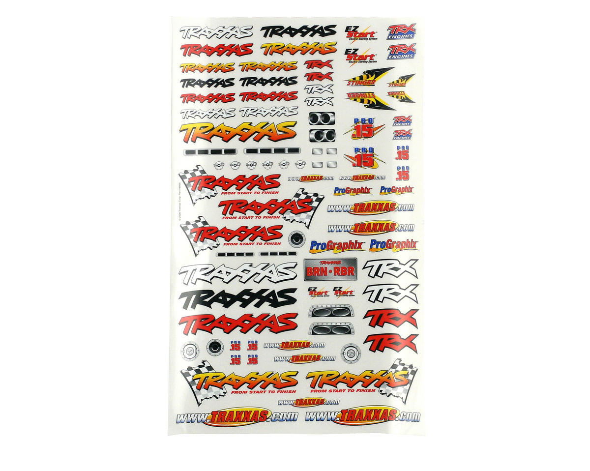 Traxxas Villain EX Official Team Racing Decal Set (Flag Logo/6-Color)