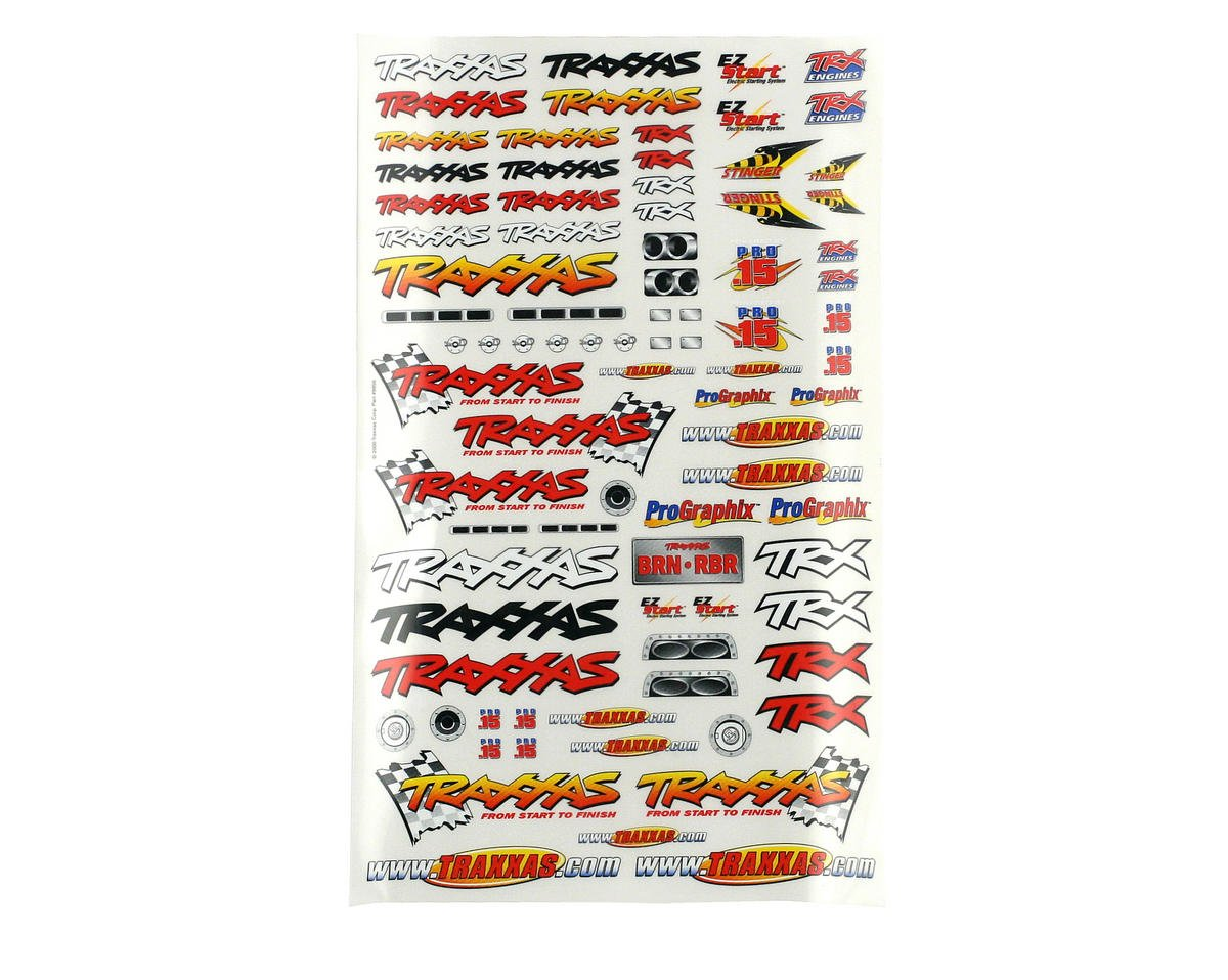 Traxxas S-Maxx Official Team Racing Decal Set (Flag Logo/6-Color)