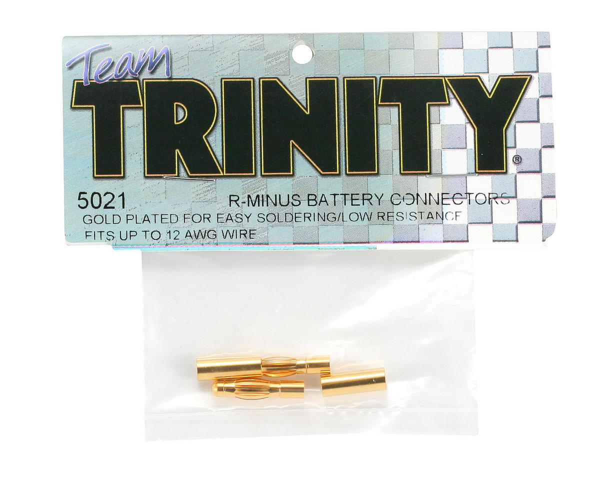 Team Trinity R-Minus Gold Connectors (2)