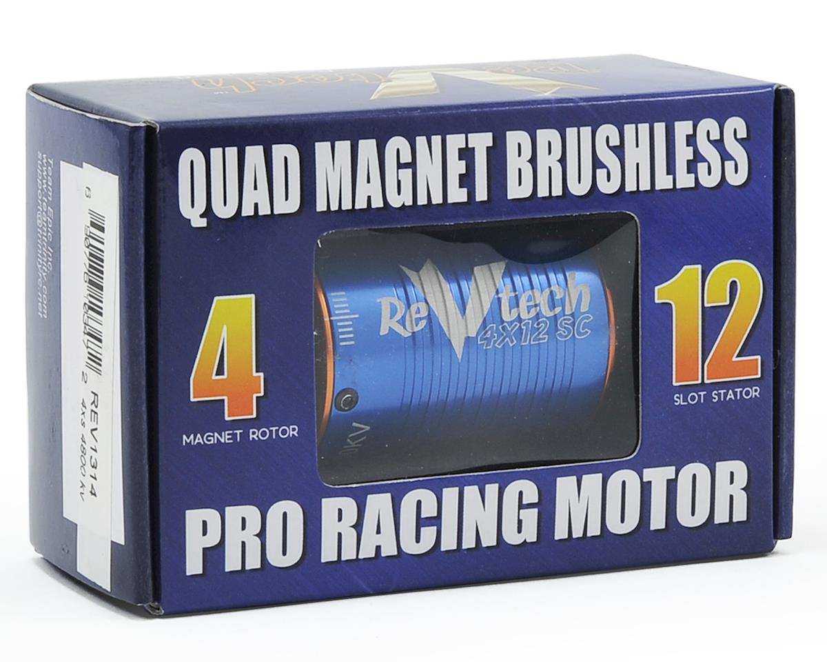 "Team Trinity REVTECH ""4XS"" Quad Magnet 12-Pole 540 Sensored Brushless Motor (1/8"" Shaft) (4800kV"