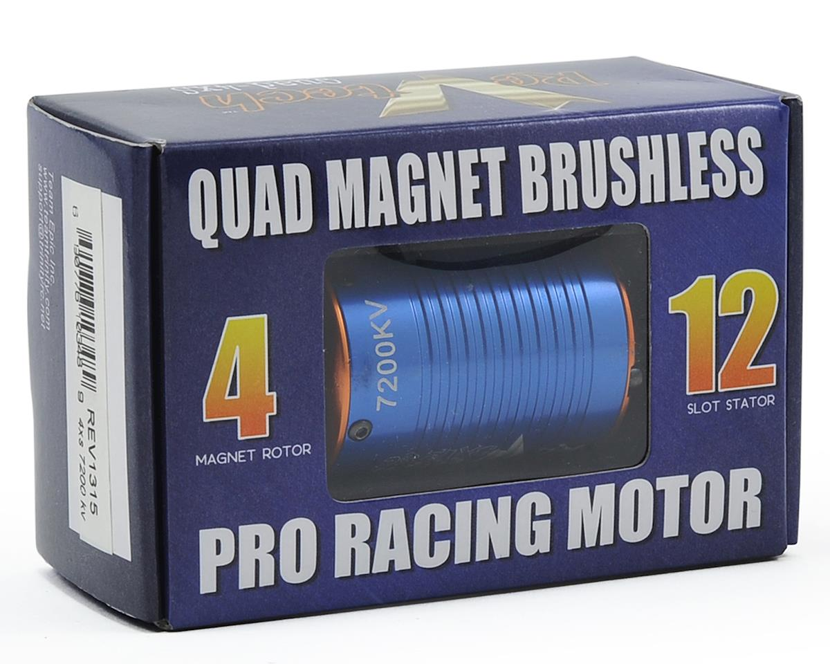 "Team Trinity REVTECH ""4XS"" Quad Magnet 12-Pole 540 Sensored Brushless Motor (1/8"" Shaft) (7200kV"
