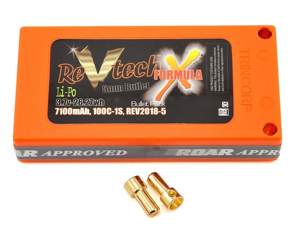 Team Trinity REVTECH Formula X 1S 100C Hardcase LiPo Battery (3.7V/7100mAh)