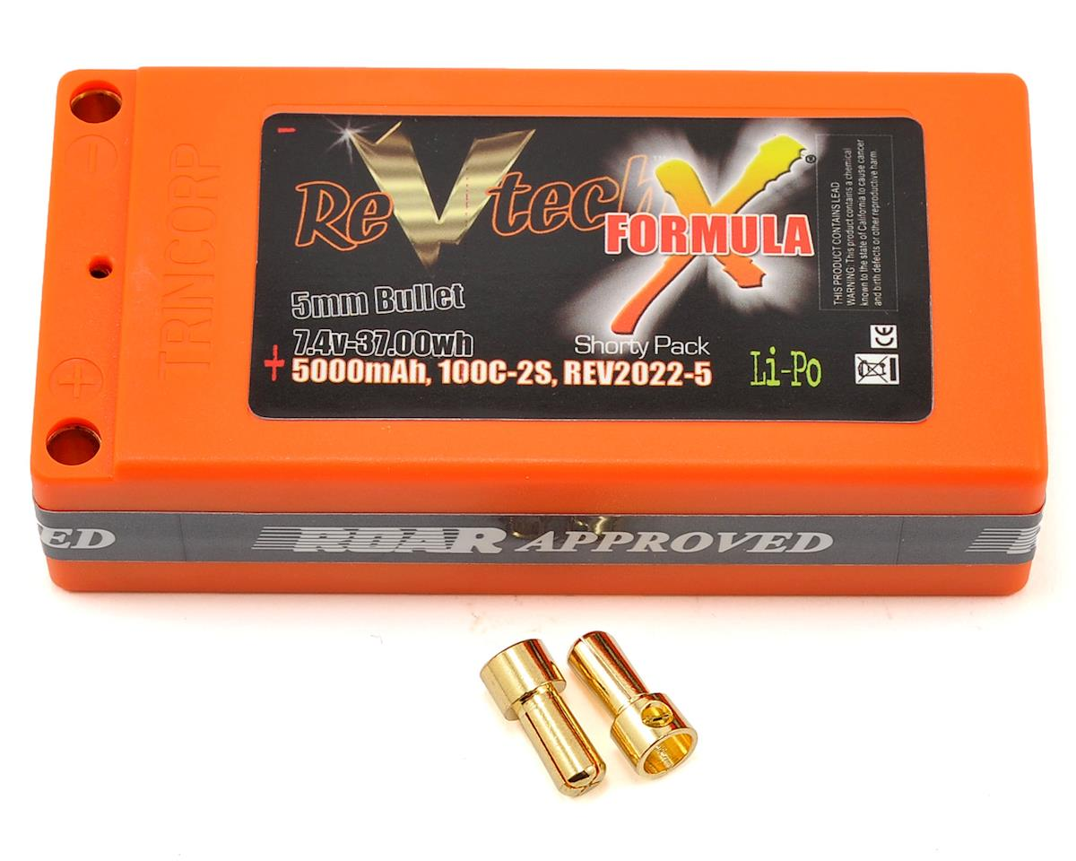 Team Trinity REVTECH Formula X Shorty 2S 100C Hardcase LiPo Battery-7.4V/5000mAh