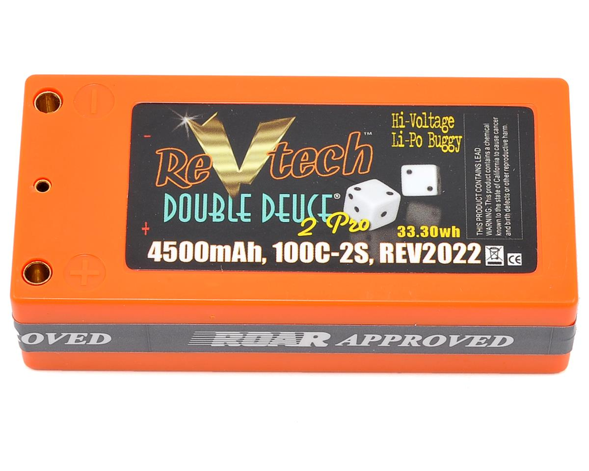 "Team Trinity REVTECH ""Double Deuce"" 2S Li-Poly 100C Hardcase Battery Pack (7.4V/4500mAh) (95mm)"