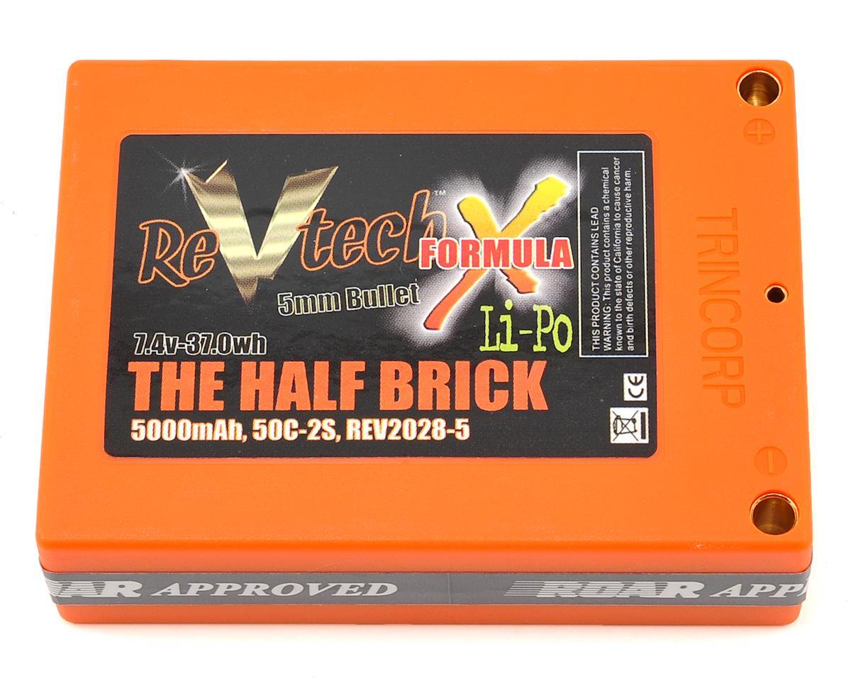 Team Trinity REVTECH Formula X Half Brick 2S 50C LiPo Battery (7.4V/5000mAh)