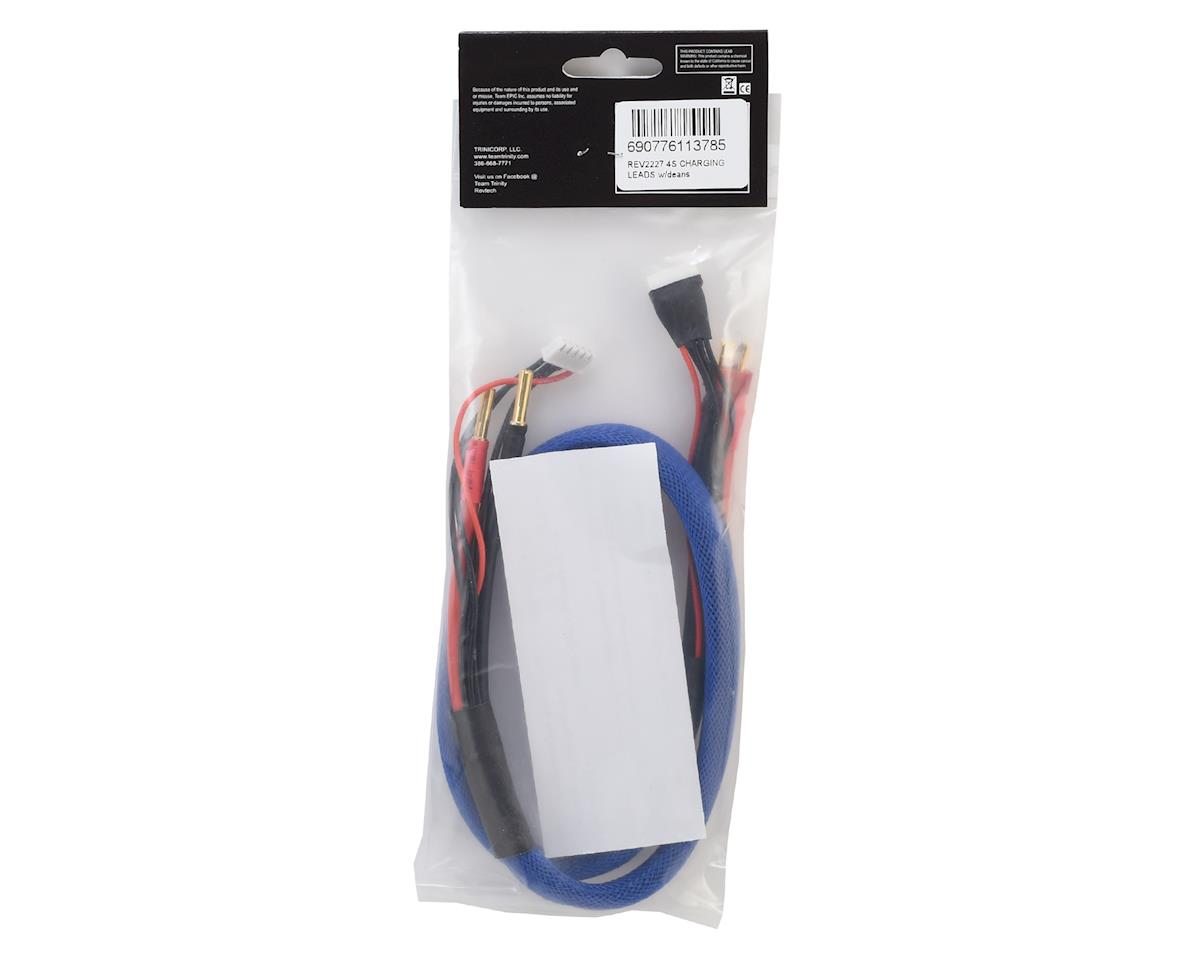 "Team Trinity 4S Lightning Charge Cable w/Deans Battery to 4mm Charger (27"")"