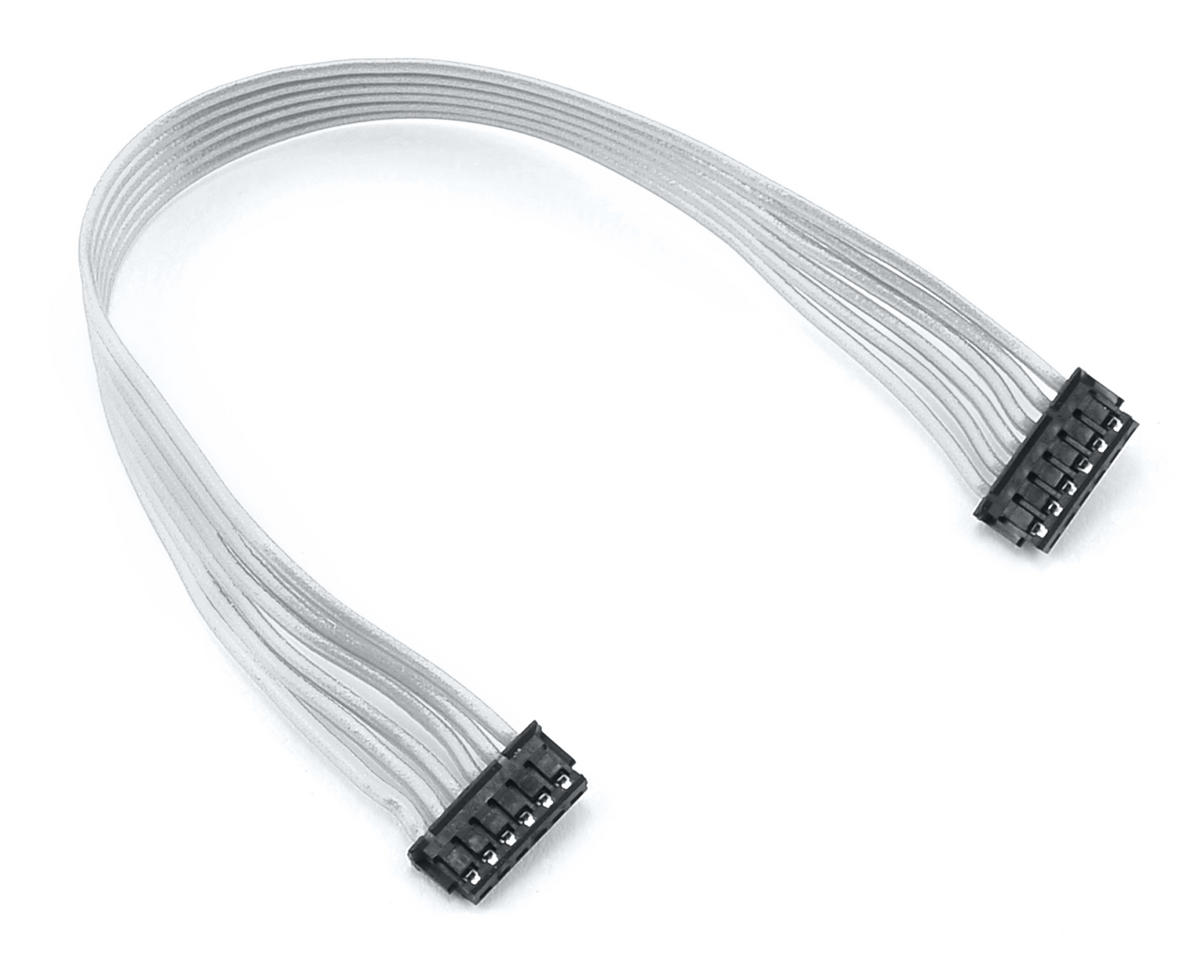 Team Trinity White Ribbon Flatwire Sensor Cable (105mm)
