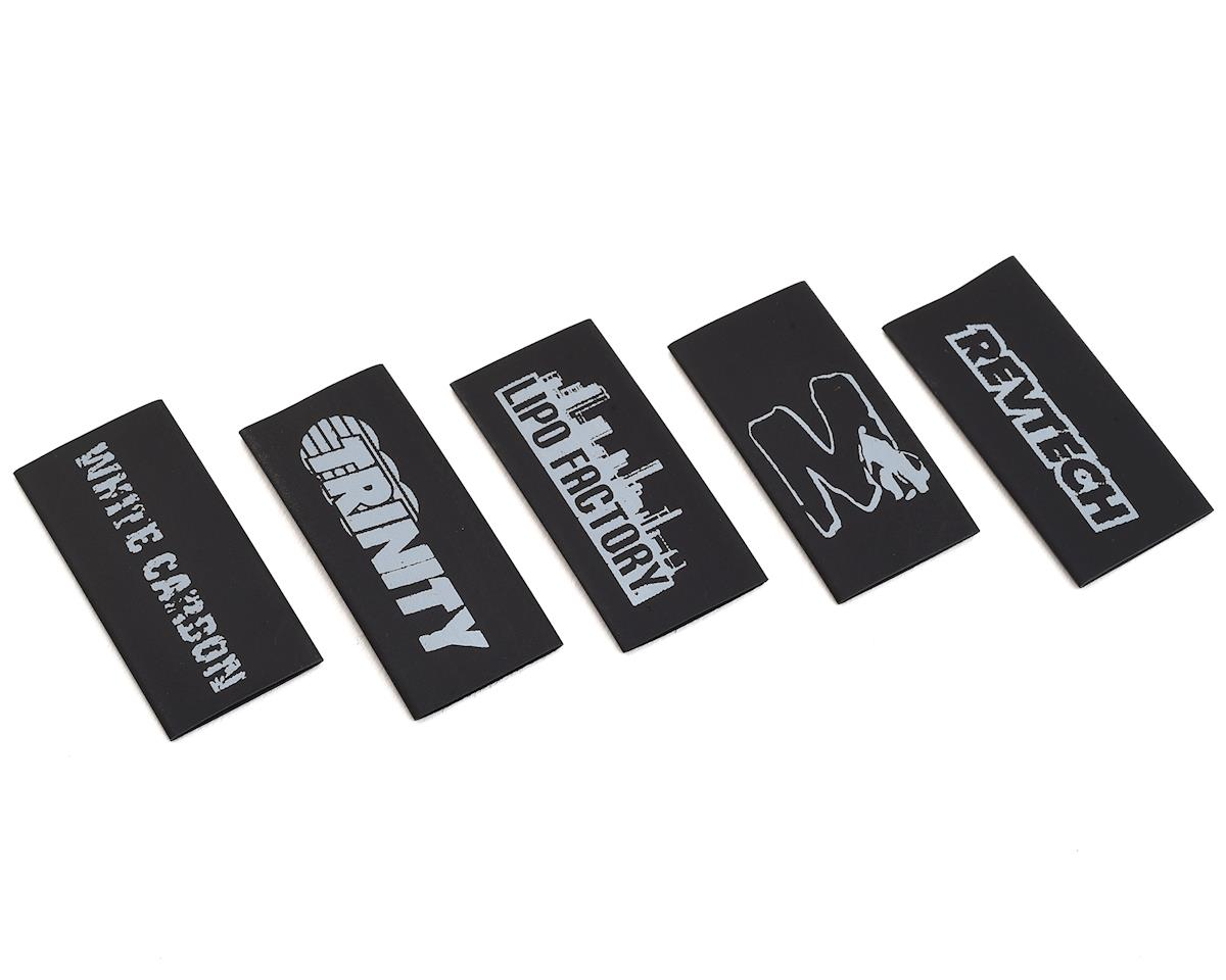 Logo Assortment Shrink Wrap/Cable Management (5) (Black) by Team Trinity