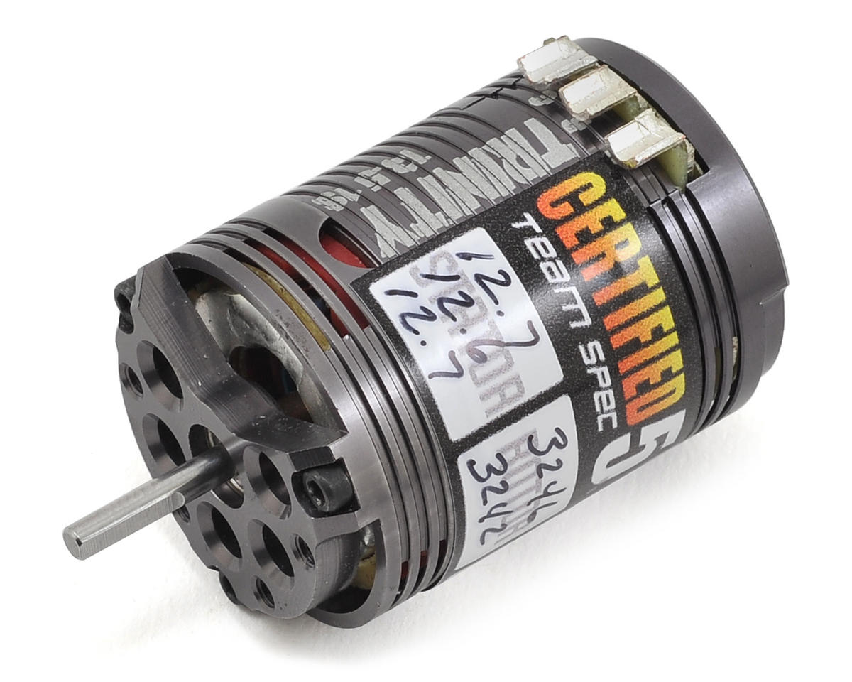"D4 1S ""Certified"" Short Stack Brushless Motor (13.5T) by Team Trinity"