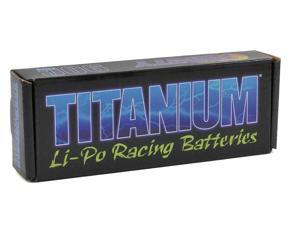 Team Trinity Titanium Shorty 2S 50C Hardcase LiPo Battery (7.4V/4500mAh)