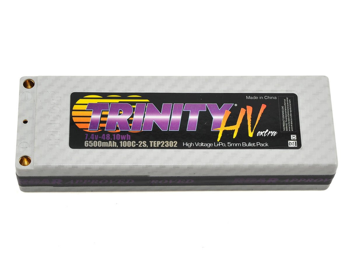 Team Trinity Hi-Voltage 2S 100C Hardcase LiPo Battery (7.4V/6500mAh)