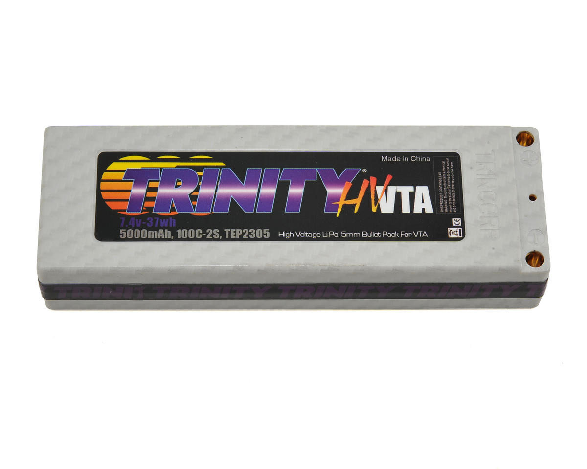 Trinity Hi-Voltage VTA 2S 100C Hardcase LiPo Battery (7.4V/5000mAh)