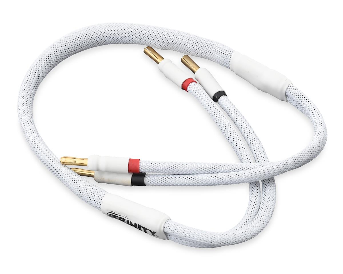 Team Trinity 1S Pro Charge Cables w/5mm Bullet Connector (White)