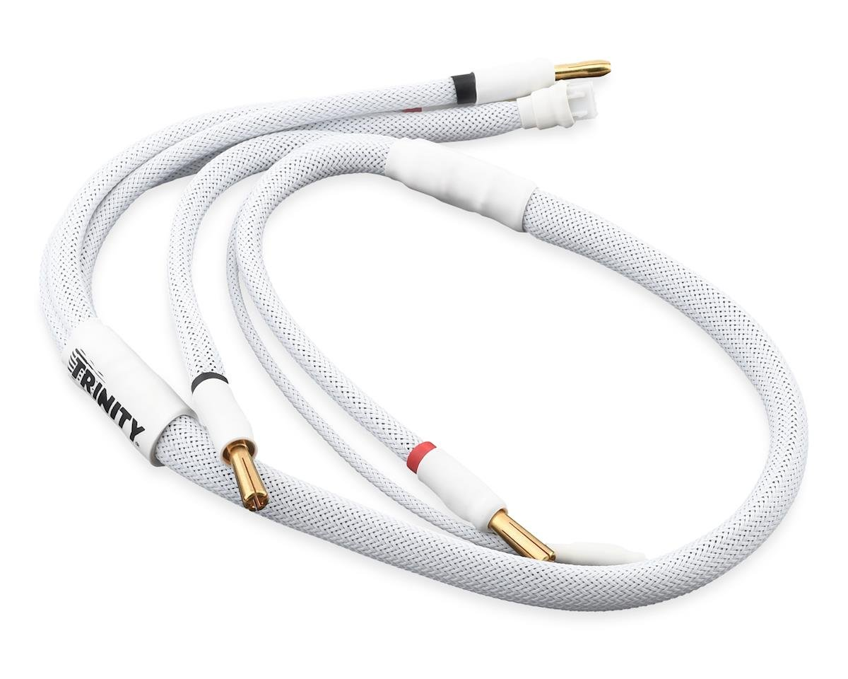 Team Trinity 2S Pro Charge Cables w/5mm Bullet Connector (White)