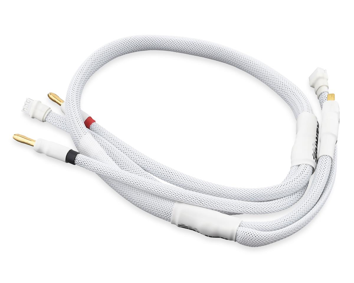 Team Trinity 2S Pro Charge Cables w/Deans Plug (White)
